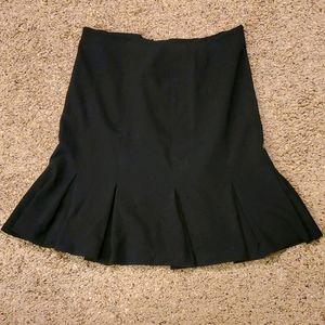 3/$12 Black pencil skirt with flare hem